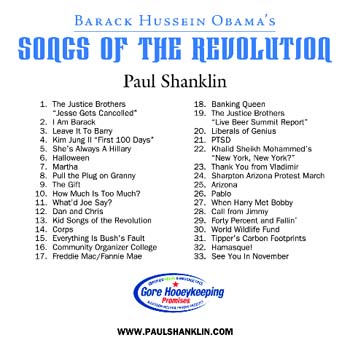 Songs of the Revolution CD back